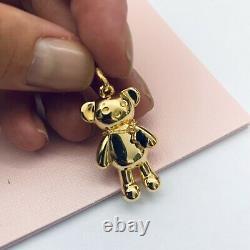 018074560 Authentic Brand New Limited Edition Vermeil Teddy Bear Pendant