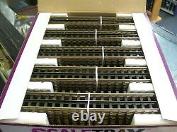 50 Pack BRAND NEW MTH 45-1001 ScaleTrax 10 Solid Rail Straight Track Section's
