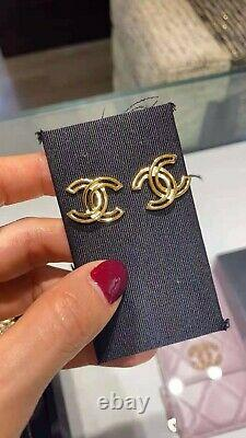 Authentic Chanel Earings Double C Limited Edition Brand New With Box