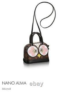 Authentic Louis Vuitton Limited Edition Alma Nano Owl Brand New