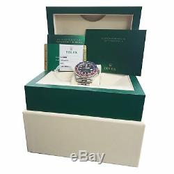 BRAND NEW 2019 Rolex GMT Master II PEPSI Red Blue Ceramic 126710 BLRO Watch