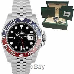 BRAND NEW 2020 Rolex GMT Master II PEPSI Red Blue Ceramic 126710 BLRO Watch