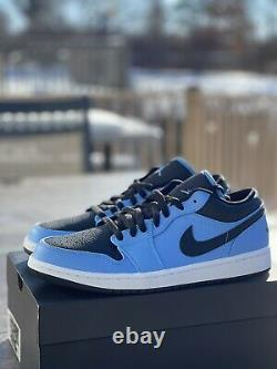 BRAND NEW Air Jordan 1 Low University Blue (553558-403)US Size 9.5 NIB FAST SHIP