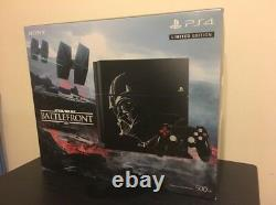 BRAND NEW Sony PS4 Star Wars Battlefront Limited Edition 500GB Jet Black Console