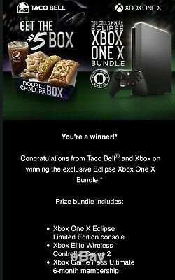 BRAND NEW Xbox One X Eclipse Limited Edition Console (Taco Bell Bundle)