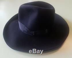 Borsalino Fedora Brand New Black Jhonny Deep Hat Gold Label 56 Limited Edition
