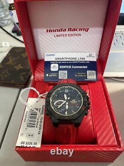 Brand NEW Casio Edifice x Honda Racing 20th Anniversary Men's Watch ECB-10HR-1A