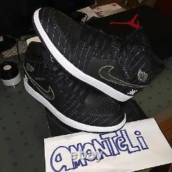Brand New Air Jordan 1 Opening Day Pack Barons Black 2008 Sz 12 Deadstock
