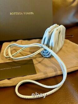 Brand New Bottega Veneta The Mini Pouch 20 Coin Purse Wallet Clutch Blue