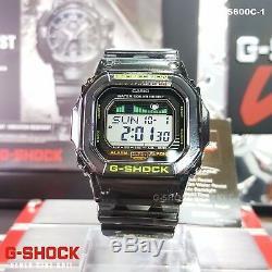 Brand New Casio G-shock Glx-5600c-1 G-glide Tide Moon Graph Limited Genuine