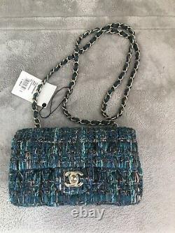 Brand New Chanel Tweed Mini Classic Flap Bag