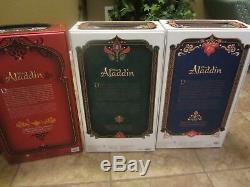 Brand New Disney Store 17 Limited Edition Jasmine Jafar Aladdin Dolls