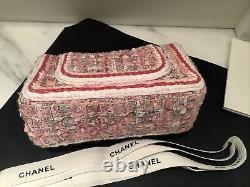 Brand New In Box CHANEL Pink Tweed Mini 19 Gorgeous Mini GHW BNWT RARE Angel