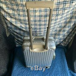Brand New Limited Edition Rimowa Aluminum Topas 22 Two Toned (silver) Luggage