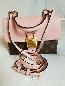 Brand New Louis Vuitton Locky BB Rose Poudre Crossbody Monogram Bag