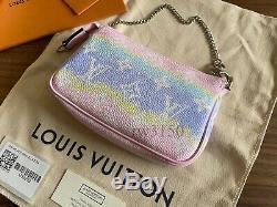 Brand New Louis Vuitton Mini Pochette Accessoires Escale with Receipt