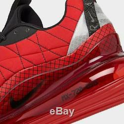Brand New Men's Nike Air Max 720 818 Athletic Training Sneakers Red & Black