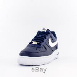 Brand New Nike Air Force 1 Leather Basketball Sneakers Midnight Blue & White