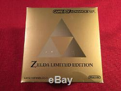 Brand New Nintendo Game Boy Advance SP Zelda Limited Edition System