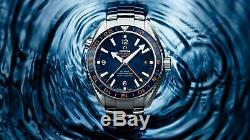 Brand New Omega Seamaster Planet Ocean Good Planet Gmt Watch 232.30.44.22.03.001