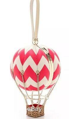 Brand New Plg Kate Spade Flights Of Fancy Hot Air Balloon Bag Aladdin Pink/white