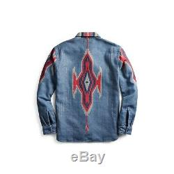 Brand New RRL Chimayo Overshirt Shirt Native American Western FW2019