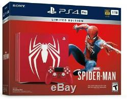 Brand New Sony PS4 Pro Console BundleMarvel SpiderMan Limited Edition 1 TB