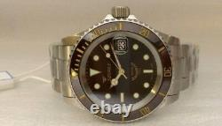 Brand New Squale Y1545 20 Atmos ROOT BEER Ceramic Watch Warranty Swiss Made MK3