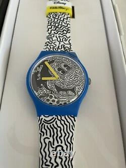 Brand New Swatch Disney Mickey Mouse X Keith Haring Watch 2021 COMPLETE SET