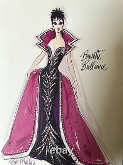 Brunette Brilliance Barbie Limited Edition in Box Brand New by Bob Mackie