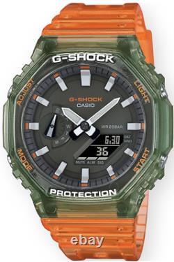 Casio G-Shock Clear Transparent GA2100HC-4A Digital-Analog 2021 Brand New