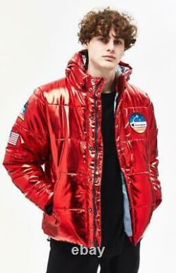 Champion NASA Metallic RED Puffer Limited Edition 3 Patch MEN Jacket (BRAND NEW)