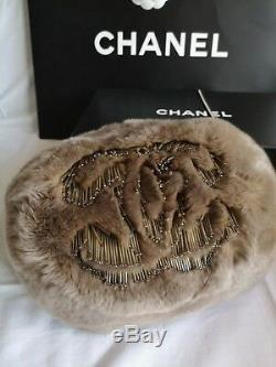 Chanel Rabbit Fur Muff Bag With Chain Brand New 100% Authentic Limited Edition