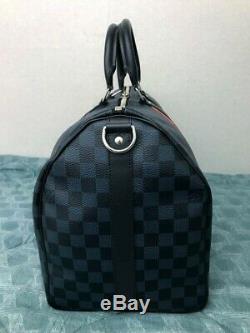 Damier Cobalt Race Louis Vuitton Keepall Bandouliere 45 Brand New