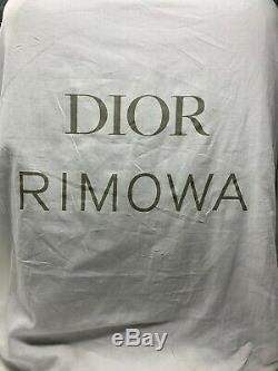 Dior Rimowa Cabin Suitcase Silver Oblique Brand New Limited Edition Bag Carry On