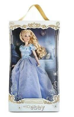 Disney Limited edition 17 Doll PLATINUM LIVE ACTION Blue CINDERELLA Brand New