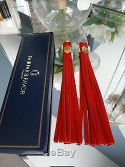 Fairfax & Favor Valentines Limited Edition Red Tassels Brand New In Box