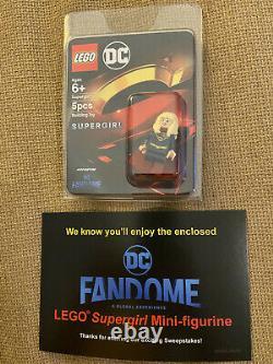 LEGO Supergirl Minifigure DC Fandome Exclusive BRAND NEW SDCC Comic Con