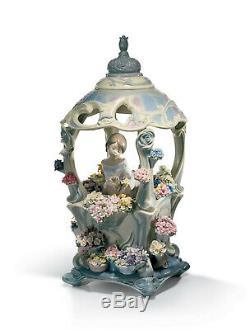 Lladro Gazebo In Bloom Limited Edition #1865 Brand Nib Girl Flowers Rare F/sh