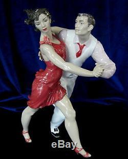 Lladro Salsa Brand Nib #9146 Dancer Limited Edition Couple Dancing $325 Off F/sh