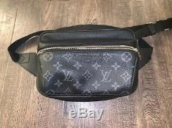Louis Vuitton Bumbag Fanny Pack M30245 Monogram Eclipse Taiga Outdoor Brand New