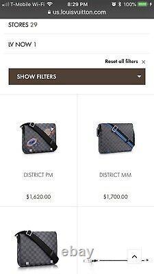 Louis Vuitton District PM Messenger Crossbody Travel Bag N41054 Brand New $1620