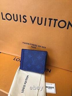 Louis Vuitton Multiple Wallet Cobalt Blue Monogram Brand New M30299 Discontinued