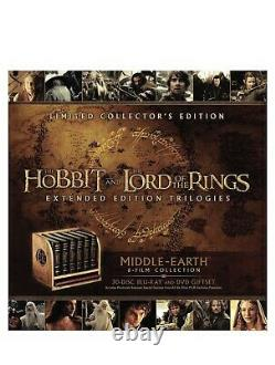 Middle-Earth 6-Film Limited Collector's Edition (Blu-ray + DVD) Brand New