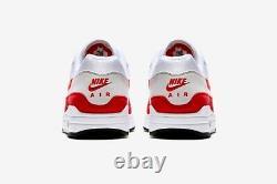 Nike Air Max 1 Anniversary 2017/2018 UK 10 US 11 EU 45 Red White AM1 Brand New