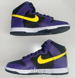 Nike Dunk High EMB Lakers Size 10.5 Men (Brand New)