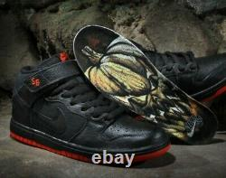 Nike Dunk MID PRO PRM SB Mid Halloween 314383-022 Black s 9.5 US Brand New
