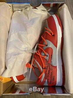 Nike X OFF WHITE DUNK LOW University Red Size 10.5 (BRAND NEW WITH BOX) Stock X
