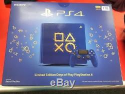 Ps4 Blue And Gold Limited Edition Days Of Play Brand New Sealed 1TB Slim System