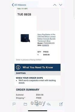 Ps4 Pro 2TB 500 Million Limited Edition Collector Console BRAND NEW